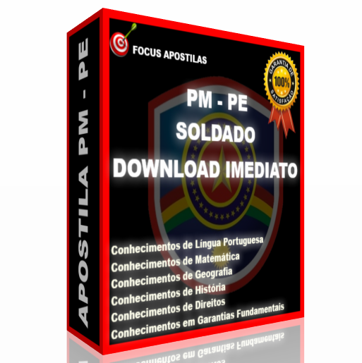 Apostila PM PE Soldado, download pdf concurso polícia militar pernambuco pe