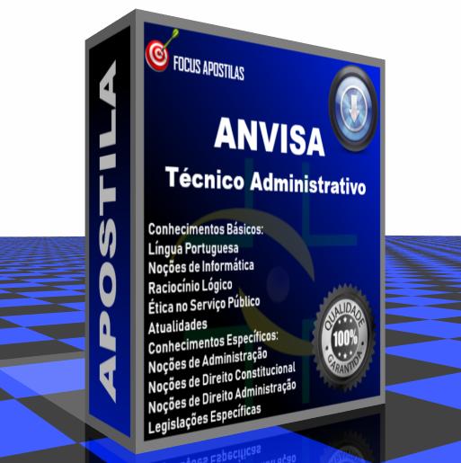 Apostila ANVISA Técnico Administrativo pdf download concurso edital