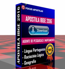 APOSTILA IBGE AGENTE PESQUISAS MAPEAMENTO