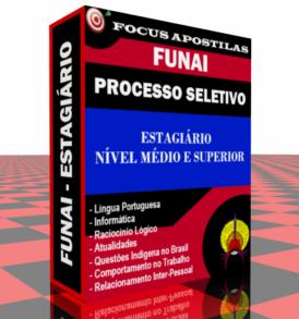 Apostila Funai Estagiário médio e superior processo seletivo