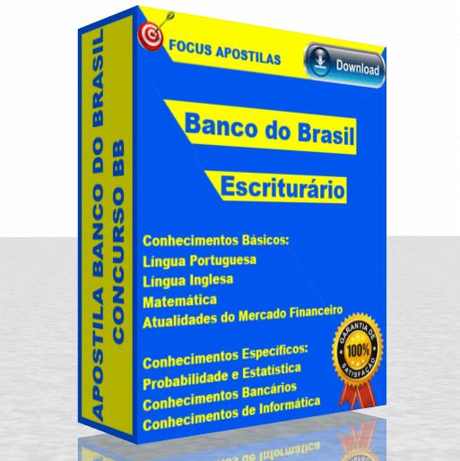 Apostila Banco do Brasil BB Escriturário download em PDF, concurso