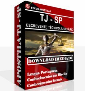 Apostila TJ SP Escrevente Técnico Judiciário PDF Download concurso 2017