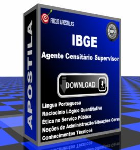 Apostila IBGE Agente Censitário Supervisor download pdf concurso edital cebraspe