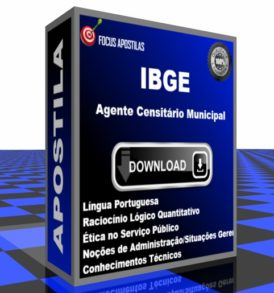 Apostila IBGE Agente Censitário Municipal comprar pdf download concurso