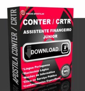 APOSTILA CONTER CRTR ASSISTENTE FINANCEIRO JR CONCURSO PDF DOWNLOAD