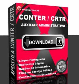 Apostila CONTER e CRTRs Auxiliar Administrativo pdf download concurso 2017