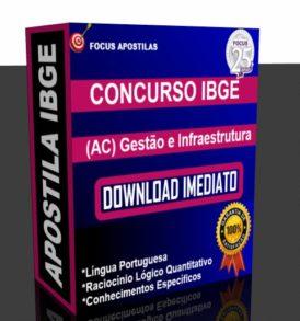 apostila ibge Gestão e Infraestrutura PDF Analista Censitário download pdf