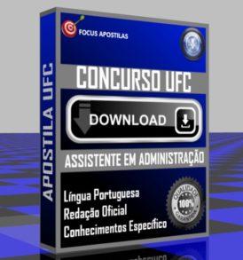 APOSTILA UFC ASSISTENTE ADMINISTRAÇÃO PDF DOWNLOAD CONCURSO