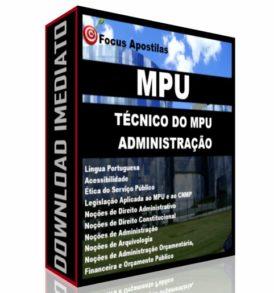 Apostila MPU Técnico do MPU - Administração, concurso CEBRASPE PDF Download