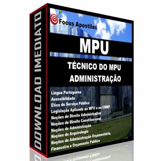 apostila mpu Técnico do MPU - Administração concurso pdf completa