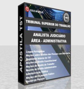 apostila tst analista judiciário area administrativa, pdf download concurso