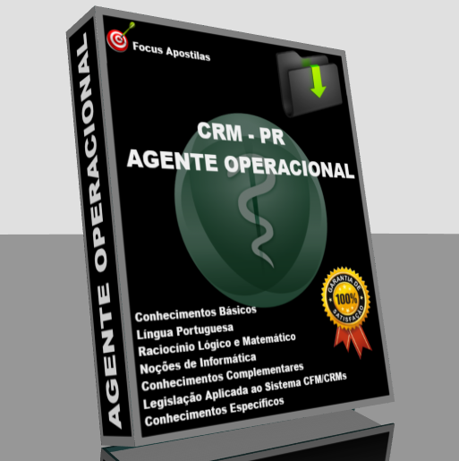 Apostila CRM PR Agente Operacional, pdf concurso
