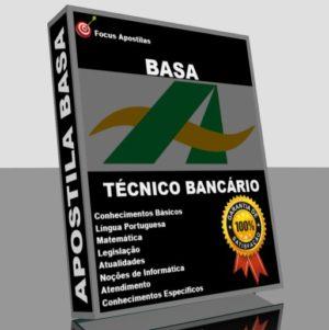 apostila basa técnico bancário pdf, concurso