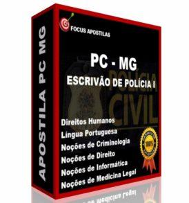 Apostila PC MG Escrivão de Polícia I concurso Polícia Civil Minas Gerais