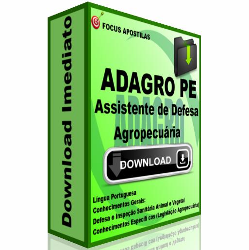 apostila ADAGRO PE Assistente de Defesa Agropecuária pdf download