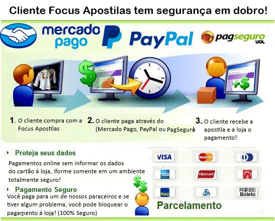 pagamentos seguro paypal, pagseguro e mercado pago apostila UFPB Assistente em Administração