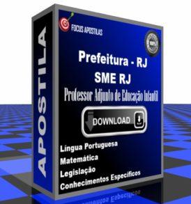 Apostila SME RJ Professor Adjunto de Educação Infantil download pdf concurso