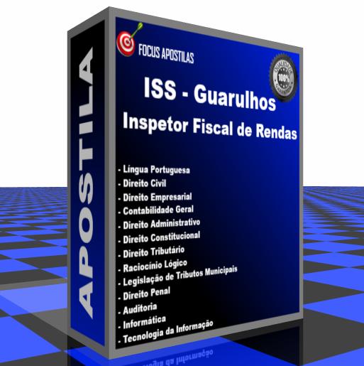 apostila iss Inspetor fiscal rendas guarulhos edital vunesp concurso pdf