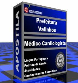 Apostila Prefeitura de Valinhos Médico Cardiologista concurso edital