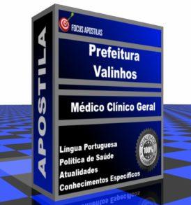Apostila Prefeitura de Valinhos Médico Clínico Geral concurso