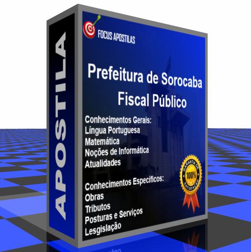 Apostila Prefeitura de Sorocaba Fiscal Público concurso vunesp pdf download