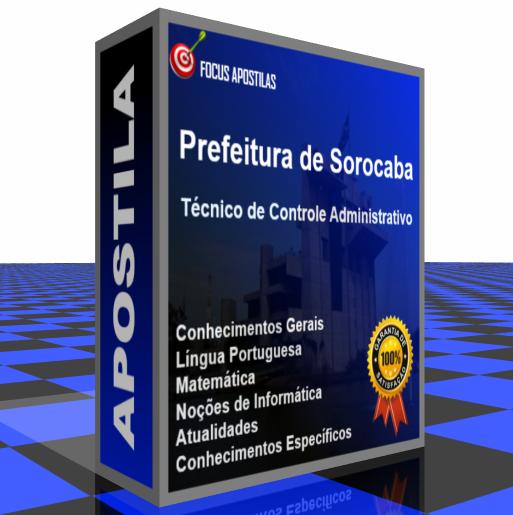 Apostila Sorocaba Técnico Controle Administrativo download pdf concurso