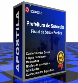 Apostila pdf Prefeitura de Sorocaba Fiscal de Saúde Pública