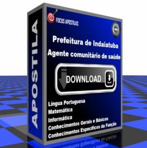 Apostila Agente comunitário saúde Indaiatuba pdf download concurso