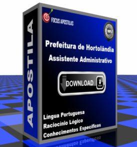 Apostila Prefeitura Hortolândia - Assistente Administrativo PDF DOWNLOAD CONCURSO EDITAL